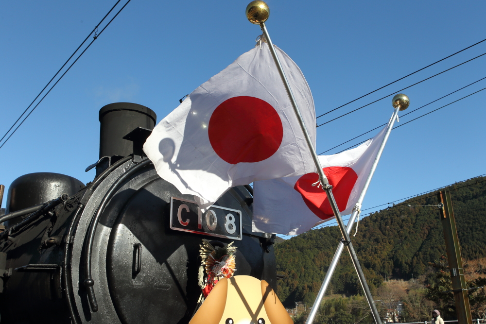 大井川鐵道の千頭駅で蒸気機関車の転車作業を撮影する