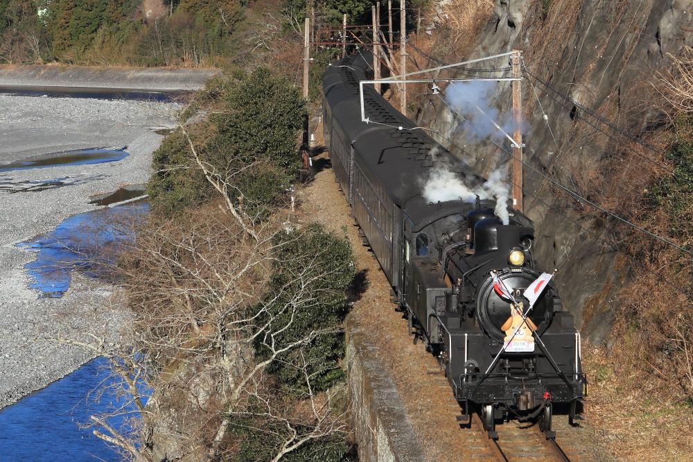 大井川鐵道の有名撮影地『中徳橋』で蒸気機関車を撮影する