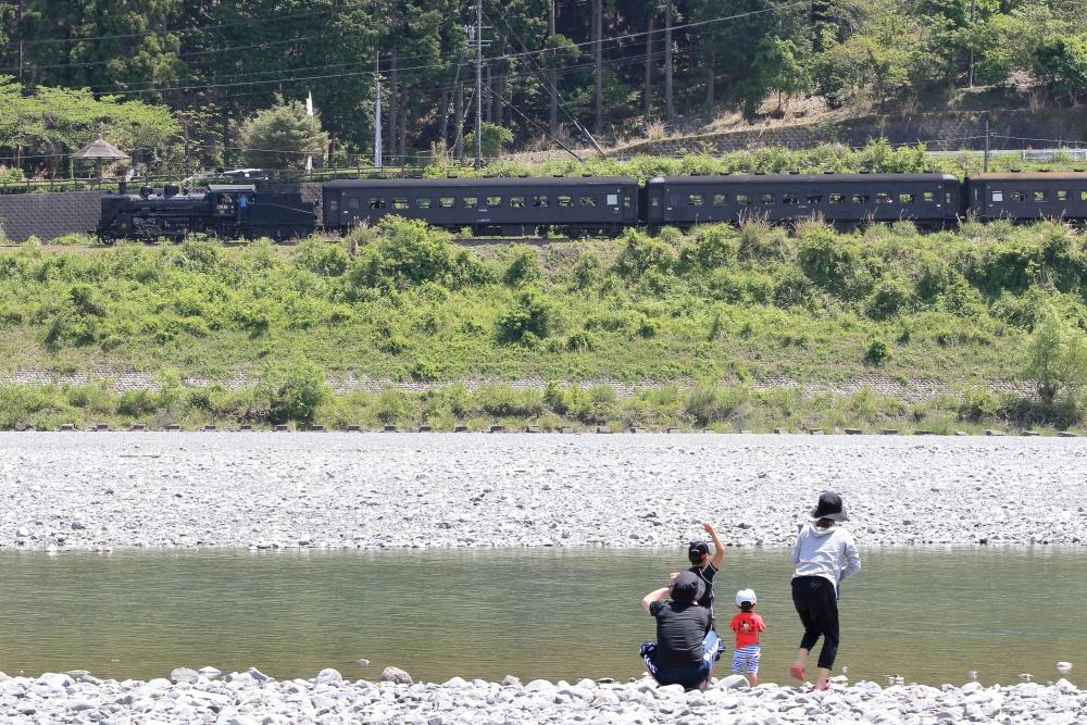 SLが見える静岡県のキャンプ場【くのわき親水公園】に泊まってみた